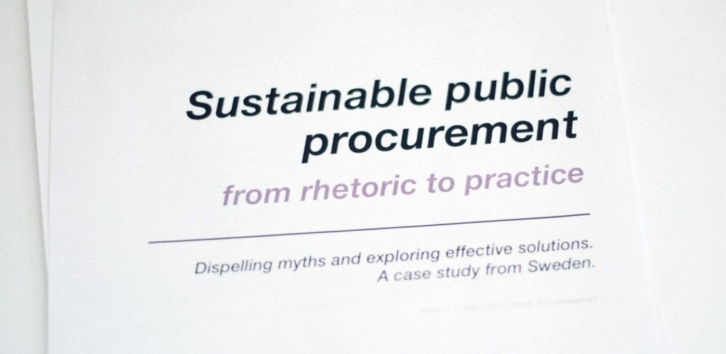 Report: Sustainability lacking in public purchasing