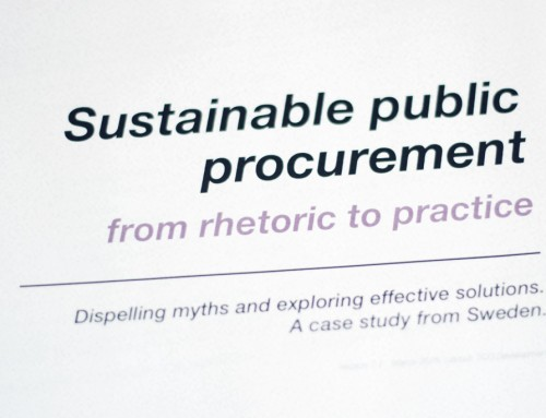Sustainability lacking in public purchasing