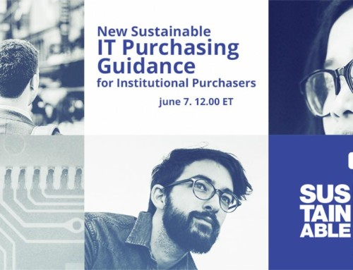 Watch webinar on-demand: New Sustainable IT Purchasing Guidance for Institutional Purchasers