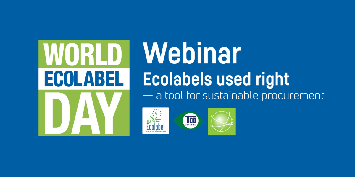 Webinar: Ecolabels used right — a tool for sustainable procurement